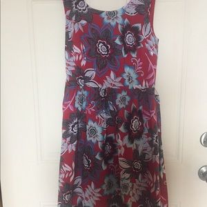Talbots sleeveless full skirt dress